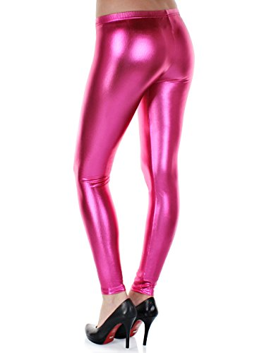 metallizzati 38 Taglia Leggings S 42 bagnato lucidi effetto Pink2 Distressed 40 M 6ExwH