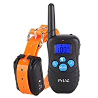 PetAZ Electric Dog Training Collar With Remote Rechargeable & Waterproof LCD Screen 330 Yard Beep/Vibration/Shock For Small, Medium, Large Pets&Dogs