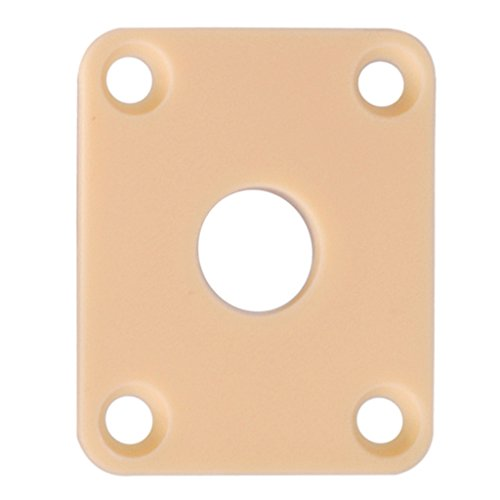 MagiDeal 3Pcs Jack Plates Socket Cover Cream for Les Paul Epiphone Guitar - Paul Plate Les Jack