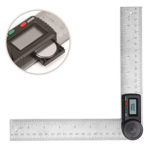 Meter Angle Digital (HORUSDY Digital Angle Finder Ruler,7- Inch Digital Protractor (200mm Stainless Steel Angle Gauge) - Best Unique Tool Gift for Men)