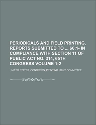 Book Periodicals and field printing, reports submitted to 66 Volume 1-2