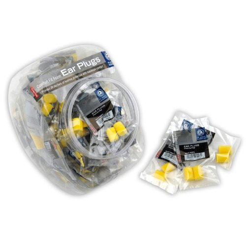 Planet Waves Comfort Fit Foam Ear Plugs, 100 Pair in Fishbowl Display