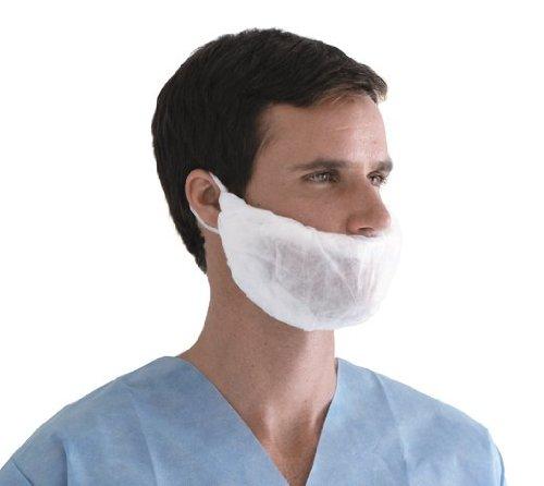 Medline NONSH400 Beard Covers, Spunbond, Latex Free, White (Pack of 1000)