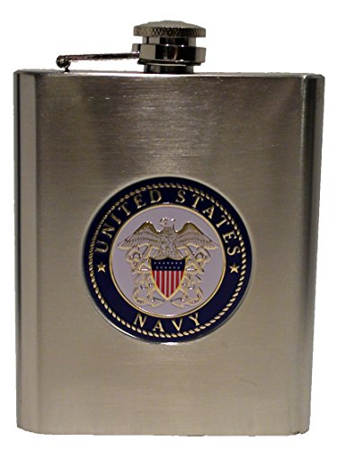 US Navy Stainless Steel Flask - 6 oz.