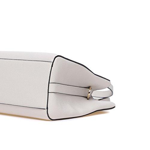 blanc pour Poignée Luxe Top Sacs Purse les Main En Cuir Kadell Dames Épaule Gris PU White Grey De À Designer Femmes Femmes 7wtfZxfqH