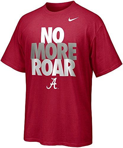 Nike Alabama Crimson Tide Men's No More Roar Game Day T-Shirt (Medium, Varsity Crimson Red)