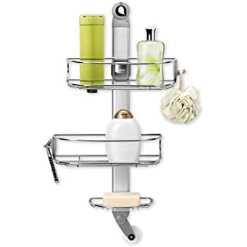 simplehuman Adjustable Shower Caddy, Stainless Steel and Anodized Aluminum (Discontinued)