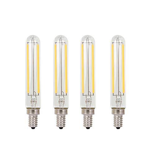 2W T6 Vintage LED Long Filament Bulb Tube 25Watt Equivalent E12 Candelabra LED Bulb Edison Style Light Bulb Dimmable…