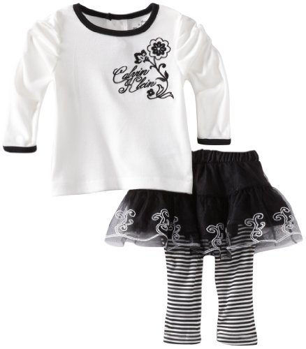 Calvin Klein Baby-Girls Newborn Skirt With Leggings And Top