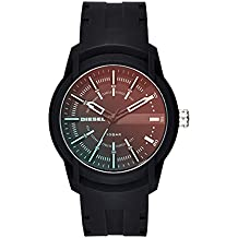 Diesel Men's Quartz Stainless Steel and Silicone Casual Watch, Color:Black (Model: DZ1819)