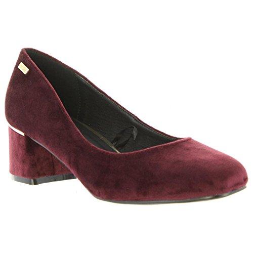 Tacón Zapatos Rojo Burdeos C38397 Mtng De 58439 Mujer 5gxqg8wP