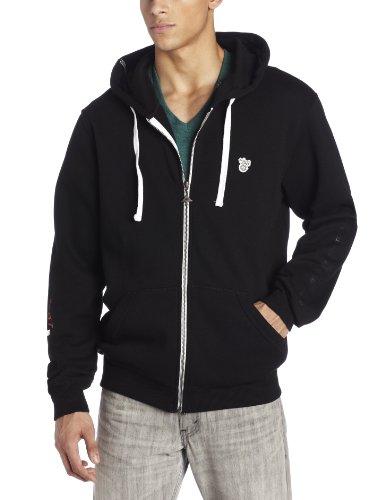 (LRG Men's Core Collection Zip Up Hoody, Black, 2XL)