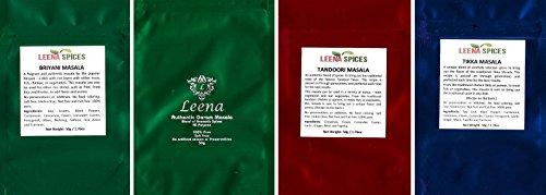 LEENA SPICES - Biryani, Garam Masala, Tandoori Powder Seasoning And Tikka Marinade Blend Rub - Best Selling Mix For Indian Pakistani Herbs And Spice. by Leena Spices