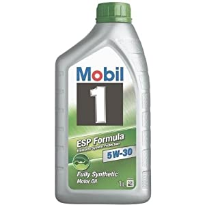 Mobil 1 5W-30 ESP Synthetic Motor Oil, 1 Liter Bottles (case of 12)