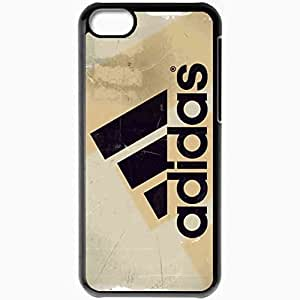 Personalized iPhone 5C Cell phone Case/Cover Skin Adidas Brand Name Black