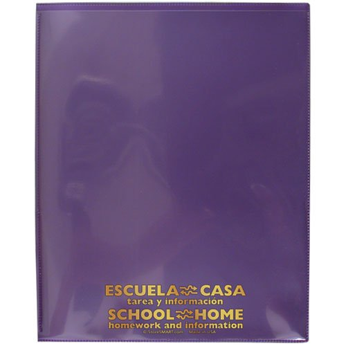 StoreSMART® - School / Home Folders - Metallic Purple - 50-Pack - Archival Durable Plastic - English/Spanish - Homework and Information - SH900SVSP-MP50 by StoreSMART®