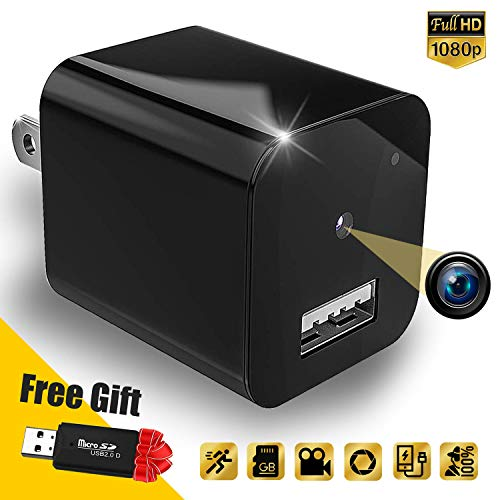 Hidden Camera – Spy Camera Charger – Nanny Cam Home Security – Motion Detection Mini Spy Camera Full HD 1080P Spy Camera Supports 32gb microSD Card – No Wi-Fi Needed by Cigplanet