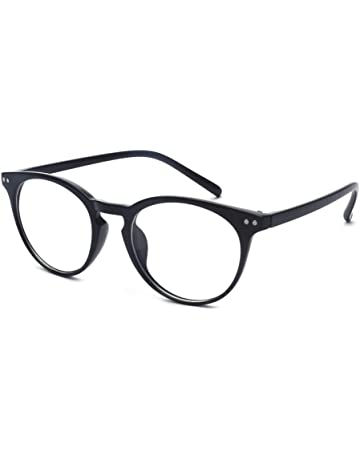 f2ac3d99cd Outray Vintage Inspired Small Nails Round Clear Lens Glasses   Blue Light  Blocking Glasses