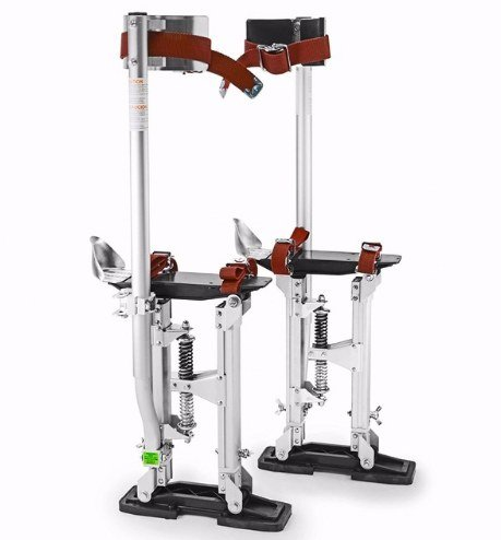 GOWE Aluminum Tool Stilts 15'' to 23'' Adjustable Inch Drywall Stilt for Taping Painting Painter Taping silver by Gowe (Image #4)