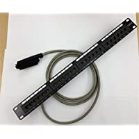 RJ21 Male Telco 24w RJ45 Patch Panel Cat 3 Cable for Cisco Voice VG224 PPS43 2m - 7 Ft.
