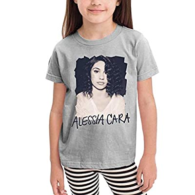 CXHKJ Alessia Cara Toddler Tshirt for Girls & Boys Gray