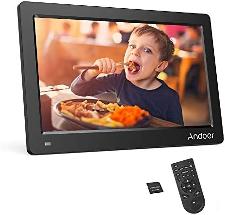 Color : Black JINGZ 15-inch Digital Photo Frame Electronic Photo Frame Ultra-Narrow Side Support 1080P Wall-Mounted Advertising Machine