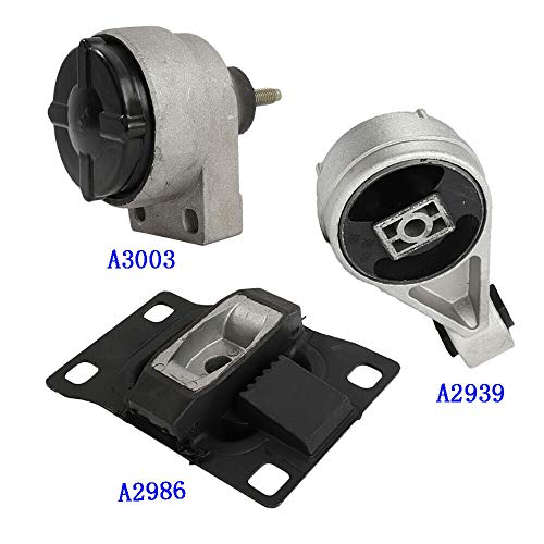 A3003 A2939 A2986 Set 3PCS Motor &T rans. Mount, Compatible with 00-03 FORD FOCUS 2.0L DOHC (2l T Dohc Engine)