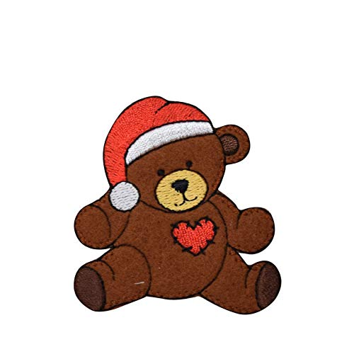 Christmas Teddy Bear Iron on Embroidered Patch (Firefly Kaylee Patches)