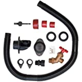 EarthMinded DIY Rain Barrel Diverter and Parts Kit - Water Collection System To Convert Containers into Rain Barrels - Catch Rain Water for Outdoor Chores - RBK-0001