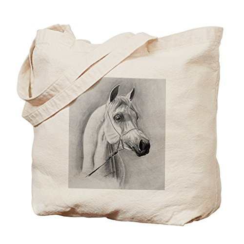 CafePress - Design - Natural Canvas Tote Bag, Cloth Shopping Bag - Bedouin Horse Costume