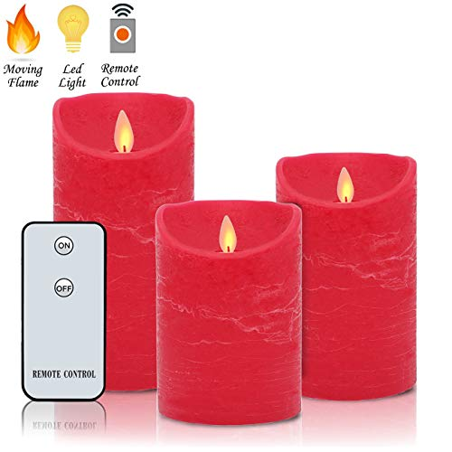 Pillar Candle Classic (Flameless Candles Flickering LED Moving Flames H4