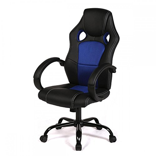 High back racing car style bucket office desk seat chair gam
