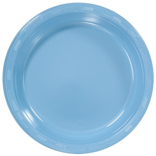 light blue dinner plates - 1