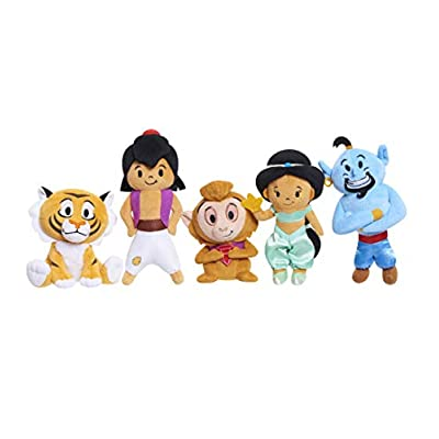 Disney Princess Aladdin Small Plush 5 Pack Bundle: Aladdin, Jasmine, Genie, Abu & Rajah: Toys & Games