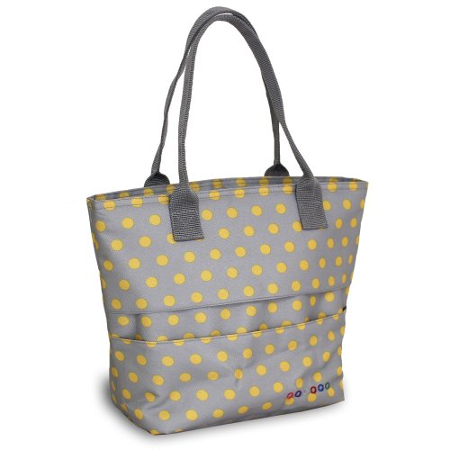 Dot Bags Grey - J World New York Lola Lunch Tote, Candy Buttons, One Size