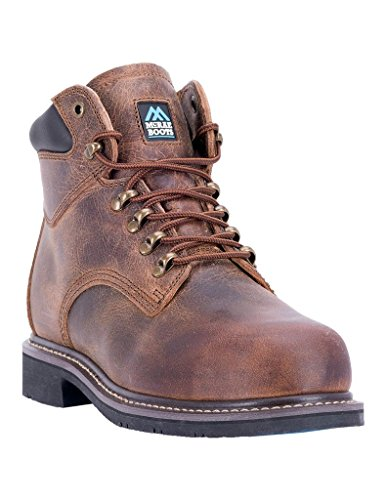 8 Industrial McRae MR86304 Brown Light Mens Laced Western Boots M q6aRqTB