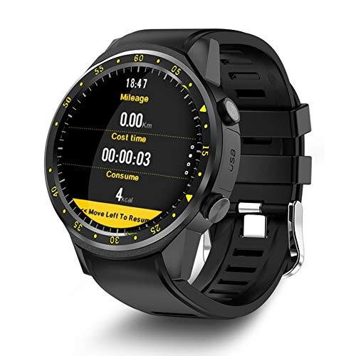 EVERYDI TenFifteen F1 Sports Smart watch GPS Smart Watch Phone 1.3 inch MTK2503 Dual Bluetooth Beidou Camera Heart Rate/Sleep Monito ()
