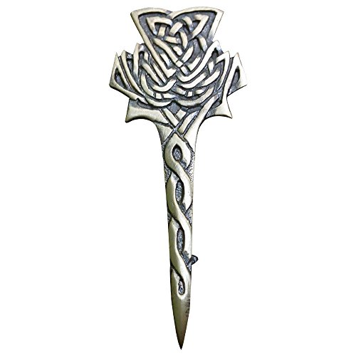 AAR Scottish Big Thistle Celtic Design Kilt Pin Antique (Celtic Pins)