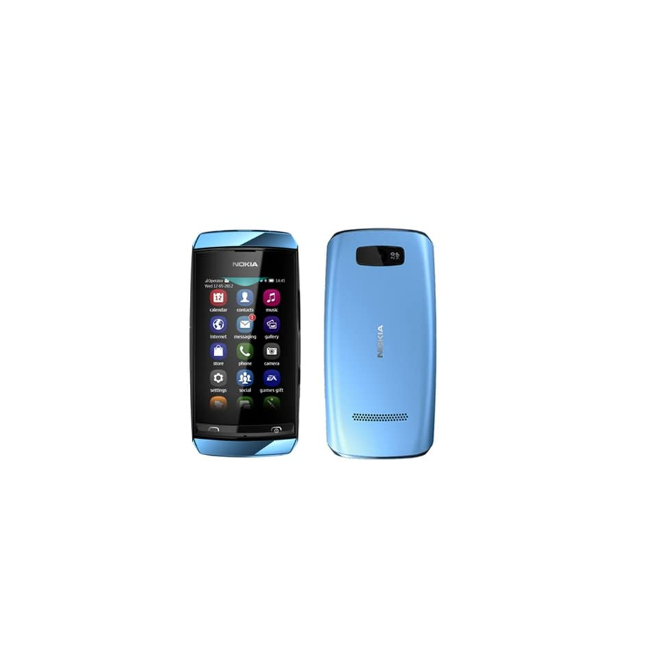Nokia Asha 306 Blue WiFi Touchscreen Unlocked GSM DualBand Bar Cell Phone