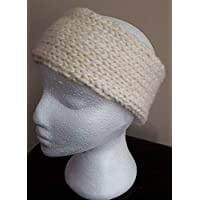Headband Earwarmer Ear Muffs - Off-White/Cream