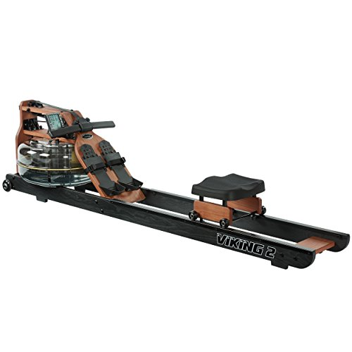 (First Degree Fitness Indoor Water Rower with Adjustable Resistance - Viking II Black Reserve)