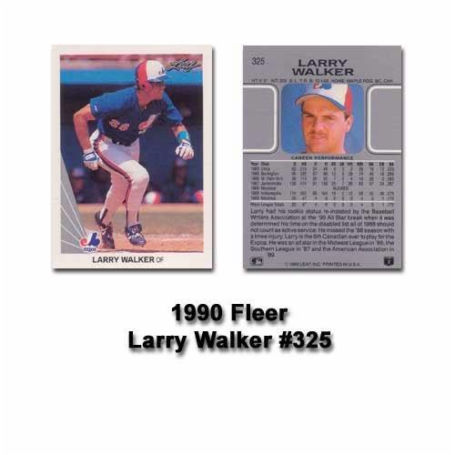 1990 Leaf Larry Walker Rookie Card (Larry Walker 1990 Leaf)