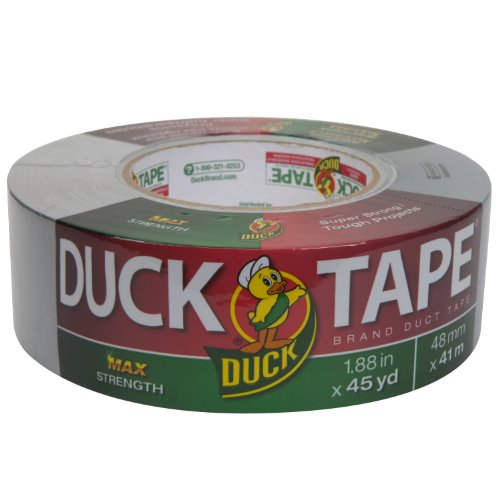 Duck Brand 240201 Max Strength Duct Tape, 1. Yards, Silver, Single Roll