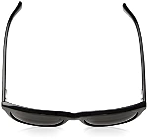 Cole Haan Men's Ch6009 Plastic Square Sunglasses, Black, 55 mm