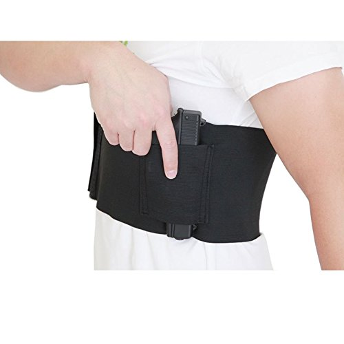 Tactical-Concealed-Carry-Belly-Band-Holster-Elastic-Concealment-Gun-Holsters-Abdominal-Waistband-Pistol-Holster-w-Magazine-Pouches-for-Women-Men-Fits-1911-Glock-19-17-42-43-P238-Ruger-LCP