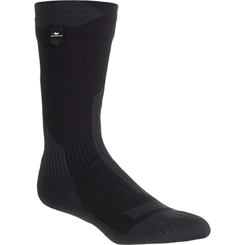 Trekking Thick Mid Sock, Black/Anthracite, Large ()