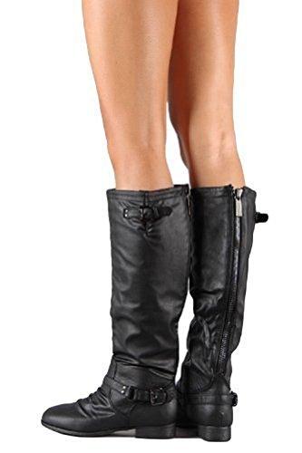 Top Moda Damen COCO 1 Kniehoher Reitstiefel Premier Black (Gratis Geschenk mit Kauf)