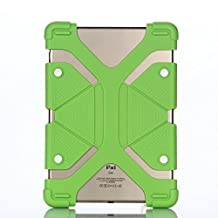 """Aenmil® Extreme-Duty iPad Air Case Shockproof & Drop Rresistance Anti-slip Soft Silicone Case Cover for 8.9"""" to 12"""" Tablet ( 8.9"""", 9.7"""", 10.1"""", 12.0"""" etc) (Green)"""