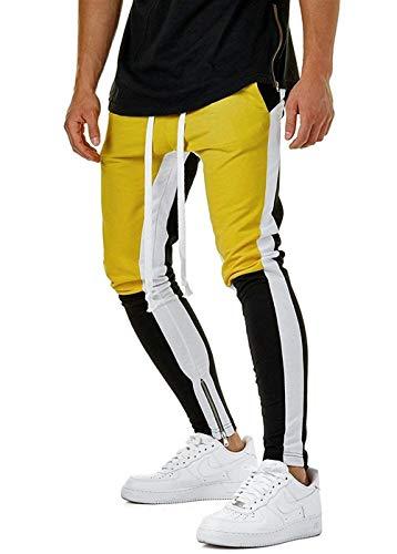 3 Gelbblack Casuales Hombres Polainas Pantalones De Jogging Deportivos Moda Color Deportivas Joven 2018 Mixtos Los 6W1zAUU