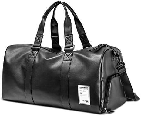 大容量のアウトドア旅行服バッグ多機能ポータブルビジネスショルダーバッグ PVC 2つのサイズオプションブラック HMMSP (Size : 51×25×27cm)